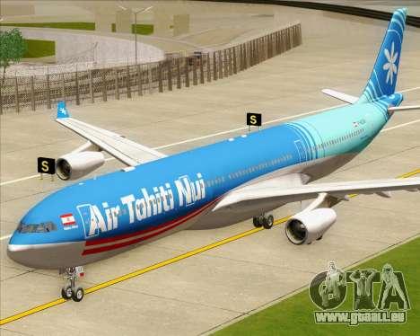 Airbus A340-313 Air Tahiti Nui pour GTA San Andreas vue arrière