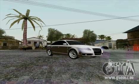 Audi A6 pour GTA San Andreas vue intérieure