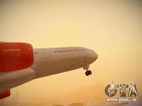 Airbus A340-300 Scandinavian Airlines pour GTA San Andreas salon