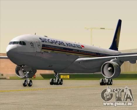 Airbus A330-300 Singapore Airlines für GTA San Andreas Unteransicht