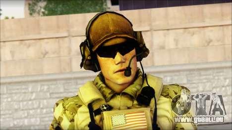 Engineer from BF4 pour GTA San Andreas troisième écran