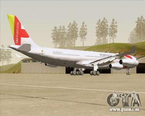 Airbus A340-312 TAP Portugal für GTA San Andreas rechten Ansicht