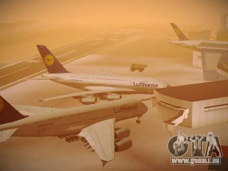 Airbus A380-800 Lufthansa pour GTA San Andreas vue de dessous