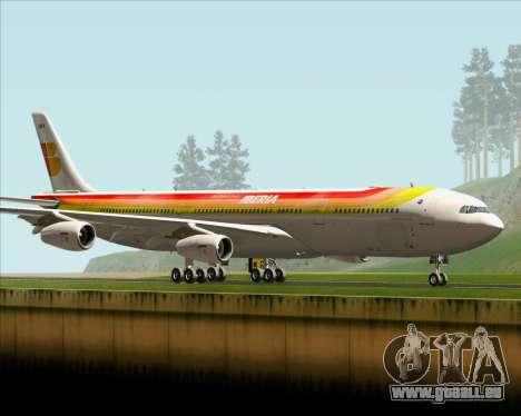 Airbus A340 -313 Iberia für GTA San Andreas zurück linke Ansicht