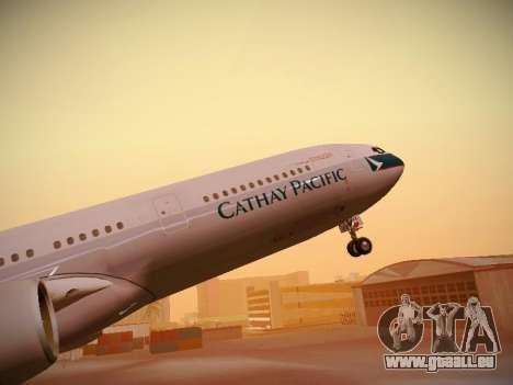 Airbus A340-300 Cathay Pacific für GTA San Andreas Räder