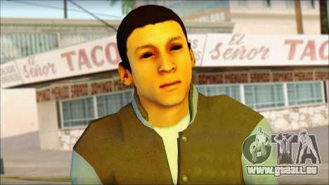 Los Aztecas Gang Skin v2 pour GTA San Andreas troisième écran