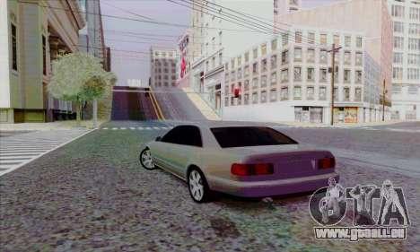 Audi A8 pour GTA San Andreas vue arrière