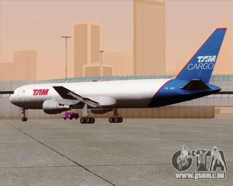 Boeing 767-300ER F TAM Cargo für GTA San Andreas Innenansicht