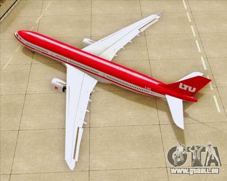 Airbus A330-300 LTU International für GTA San Andreas obere Ansicht