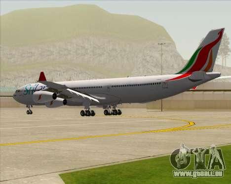 Airbus A340-313 SriLankan Airlines für GTA San Andreas rechten Ansicht