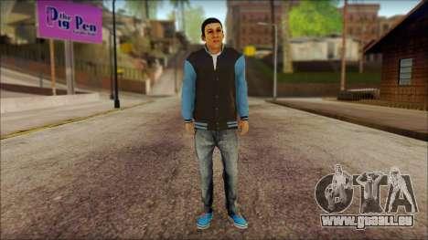 Los Aztecas Gang Skin v2 pour GTA San Andreas