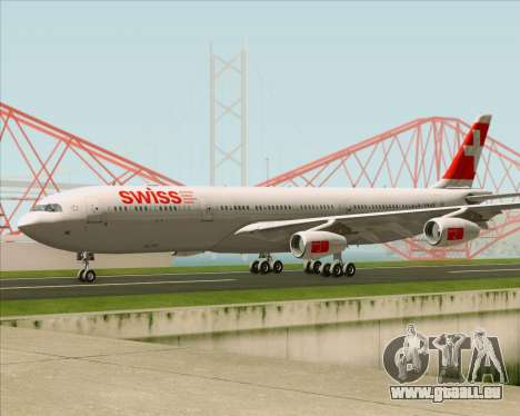 Airbus A340-313 Swiss International Airlines für GTA San Andreas Innenansicht