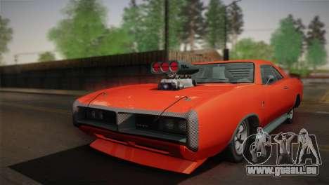 GTA 4 Dukes Tunable für GTA San Andreas zurück linke Ansicht