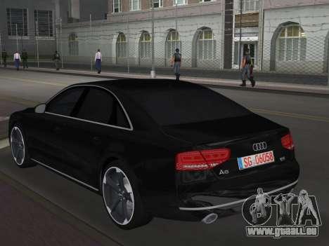 Audi A8 2010 W12 Rim6 pour GTA Vice City sur la vue arrière gauche