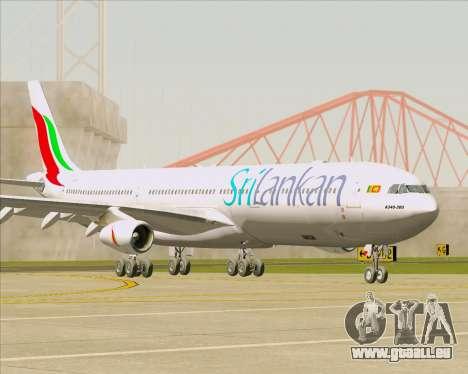 Airbus A340-313 SriLankan Airlines für GTA San Andreas zurück linke Ansicht
