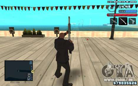 C-HUD by SampHack v10 pour GTA San Andreas deuxième écran