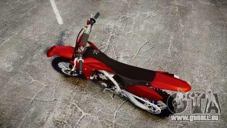 Yamaha YZF-450 Custom pour GTA 4 est un droit