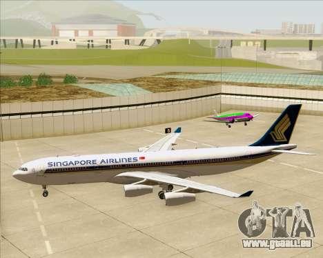Airbus A340-313 Singapore Airlines für GTA San Andreas Unteransicht