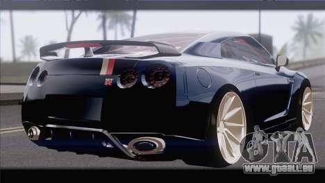 Nissan GT-R pour GTA San Andreas laissé vue