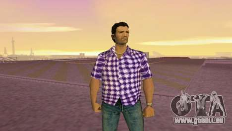 Kockas polo - lila T-Shirt für GTA Vice City