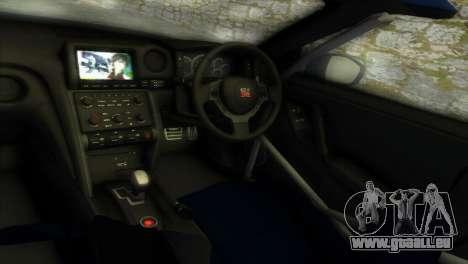 Nissan GT-R SpecV Black Revel pour une vue GTA Vice City de l'intérieur