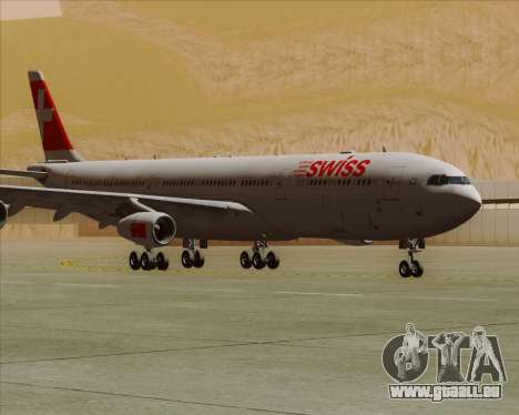 Airbus A340-313 Swiss International Airlines für GTA San Andreas linke Ansicht