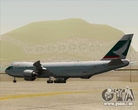 Boeing 747-8 Cargo Cathay Pacific Cargo pour GTA San Andreas vue de droite
