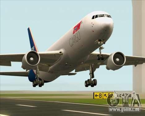 Boeing 767-300ER F TAM Cargo pour GTA San Andreas vue de dessous