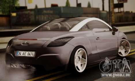 Peugeot RCZ pour GTA San Andreas laissé vue