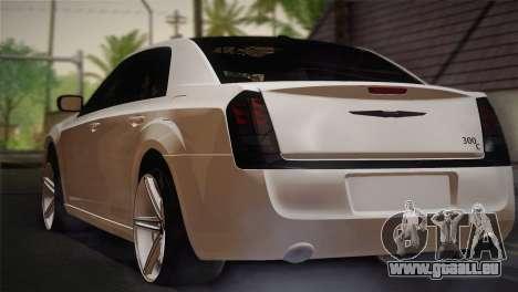Chrysler 300C 2011 pour GTA San Andreas laissé vue