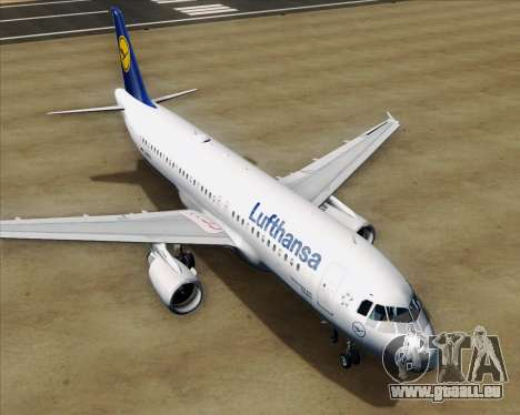 Airbus A320-211 Lufthansa pour GTA San Andreas moteur