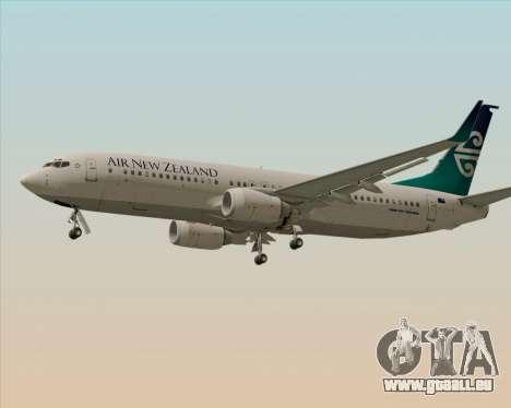 Boeing 737-800 Air New Zealand pour GTA San Andreas sur la vue arrière gauche