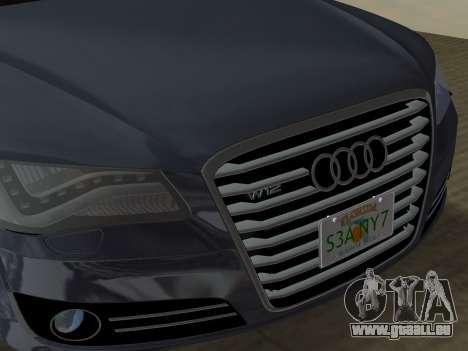 Audi A8 2010 W12 Rim6 pour GTA Vice City vue de dessous