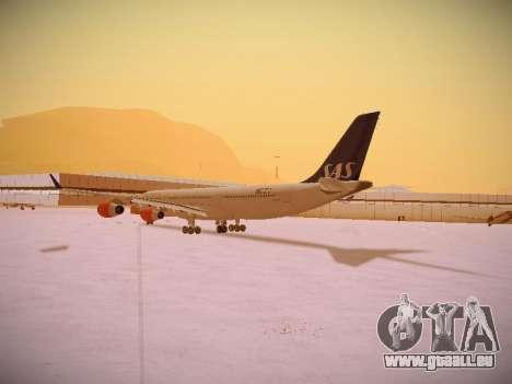 Airbus A340-300 Scandinavian Airlines pour GTA San Andreas sur la vue arrière gauche