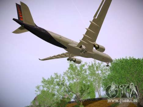 Airbus A330-300 Brussels Airlines für GTA San Andreas Innenansicht
