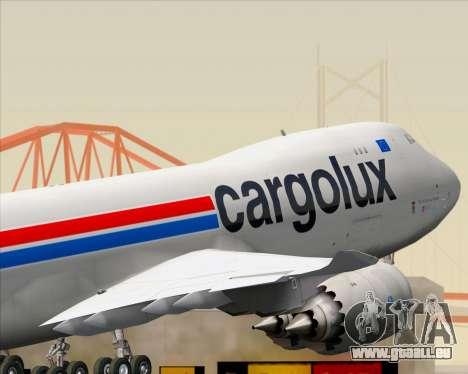 Boeing 747-8 Cargo Cargolux pour GTA San Andreas vue de dessous