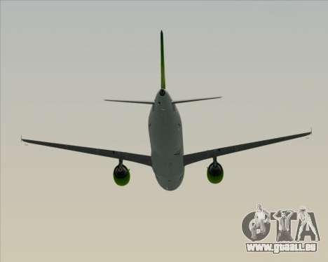 Airbus A320-200 Air Australia pour GTA San Andreas vue de dessus