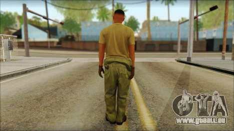 GTA 5 Soldier v2 pour GTA San Andreas deuxième écran