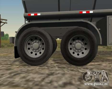 Trailer tank Carro Copec für GTA San Andreas Seitenansicht