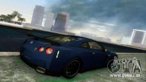 Nissan GT-R SpecV Black Revel für GTA Vice City Rückansicht