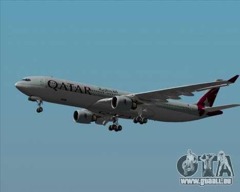 Airbus A330-300 Qatar Airways pour GTA San Andreas vue de dessus