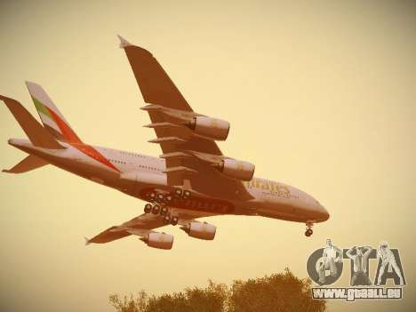 Airbus A380-800 Emirates pour GTA San Andreas salon