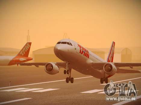 Airbus A320-214 TAM Airlines pour GTA San Andreas moteur