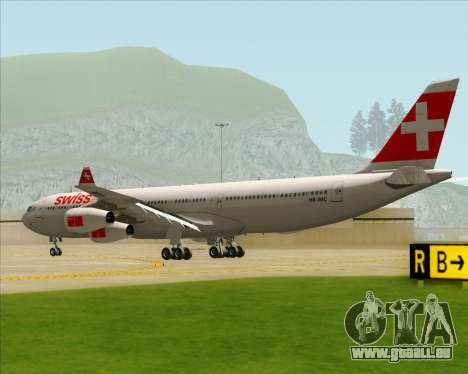 Airbus A340-313 Swiss International Airlines für GTA San Andreas rechten Ansicht
