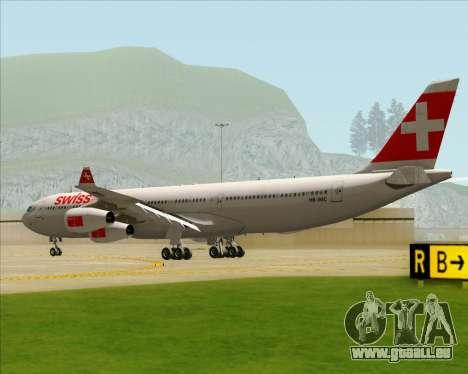 Airbus A340-313 Swiss International Airlines pour GTA San Andreas vue de droite