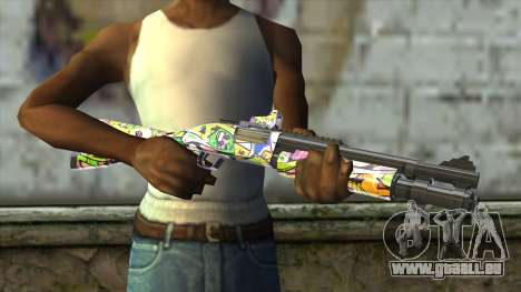 Graffiti Shotgun für GTA San Andreas dritten Screenshot