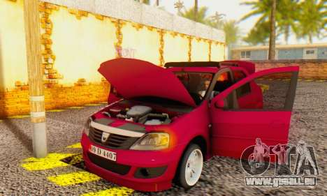 Dacia Logan 1.6 MPI Tuning pour GTA San Andreas vue intérieure
