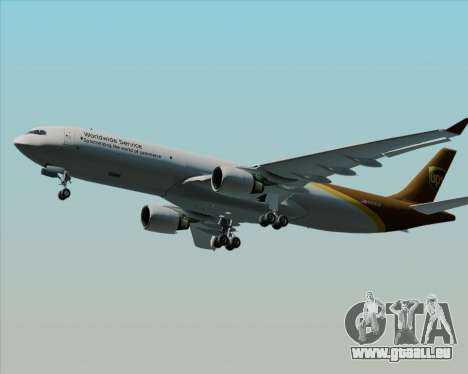 Airbus A330-300P2F UPS Airlines pour GTA San Andreas vue intérieure
