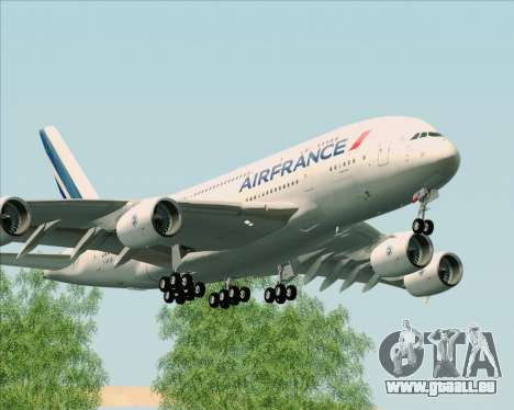 Airbus A380-861 Air France pour GTA San Andreas laissé vue