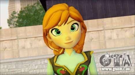 Princess Anna (Frozen) für GTA San Andreas dritten Screenshot